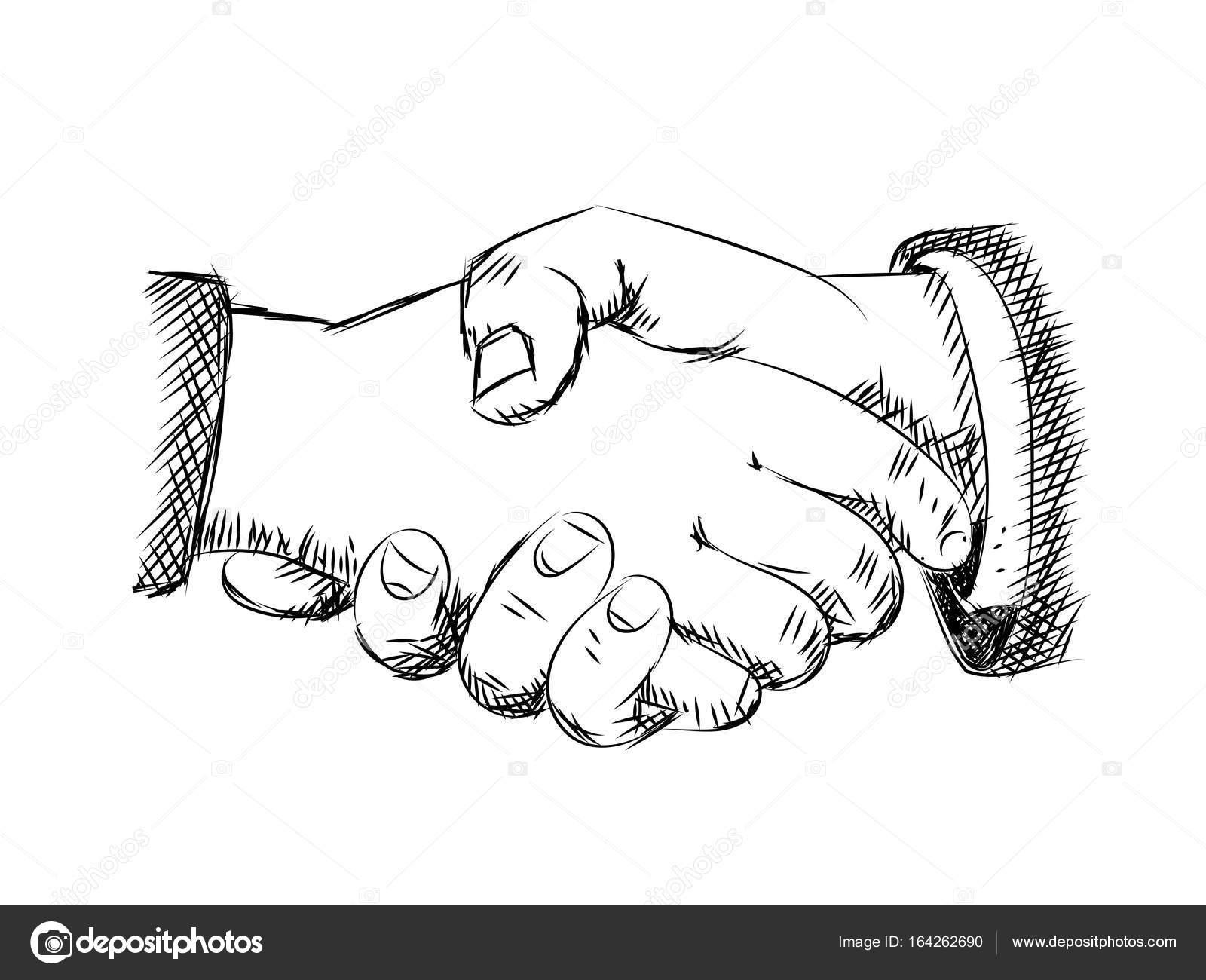 Illustration de la poign e de main dessin vectoriel image vectorielle - Dessin 2 mains ...