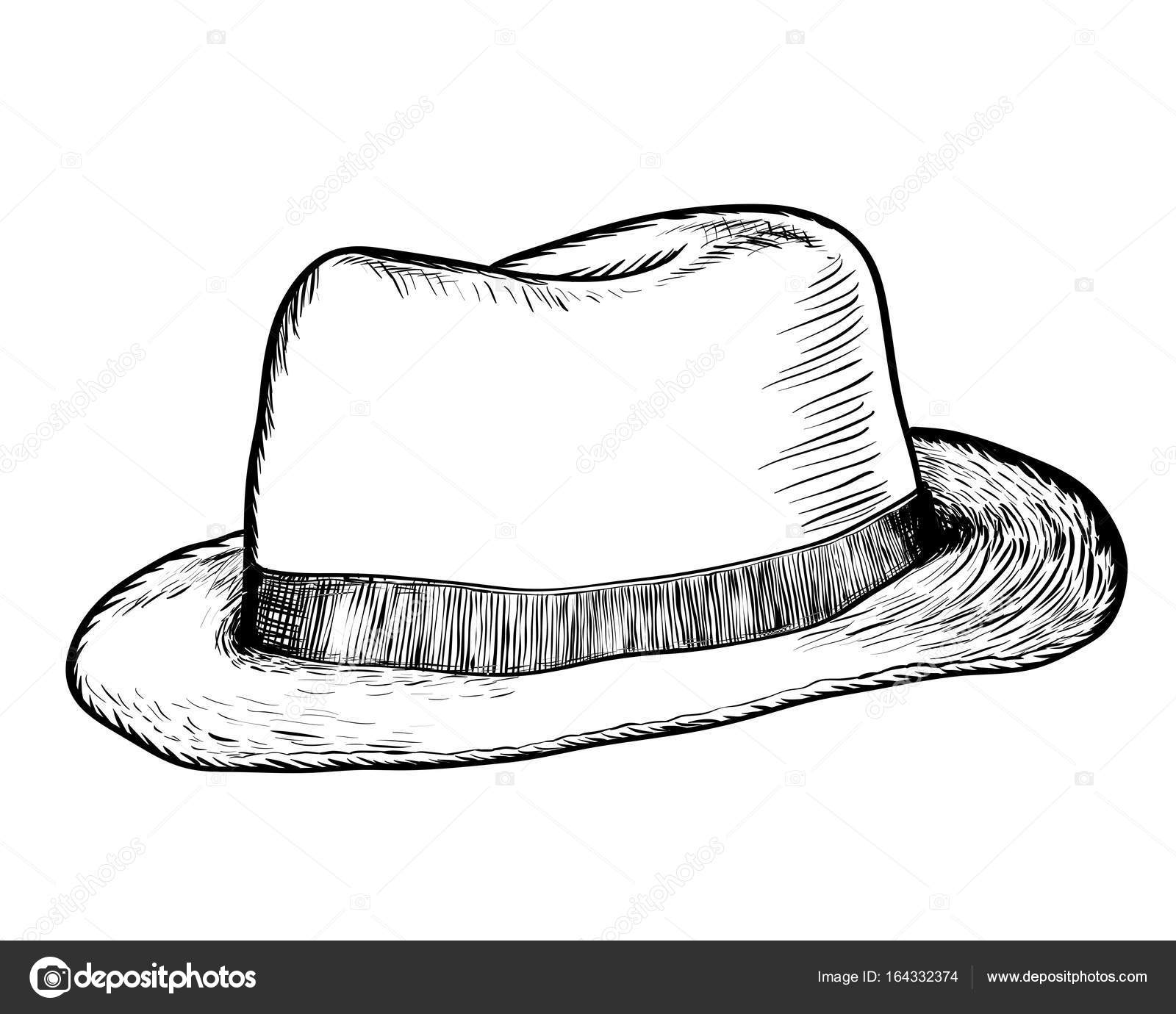 7f7d404b7aa Hand drawing Cowboy Hat. Black and White simple line Vector Illustration  for Coloring Book - Line Drawn Vector — Vector by dcliner07.gmail.com
