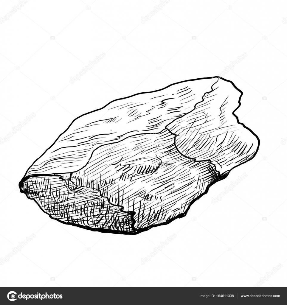 Imágenes Pez Piedra Para Colorear Mano Dibujo Roca