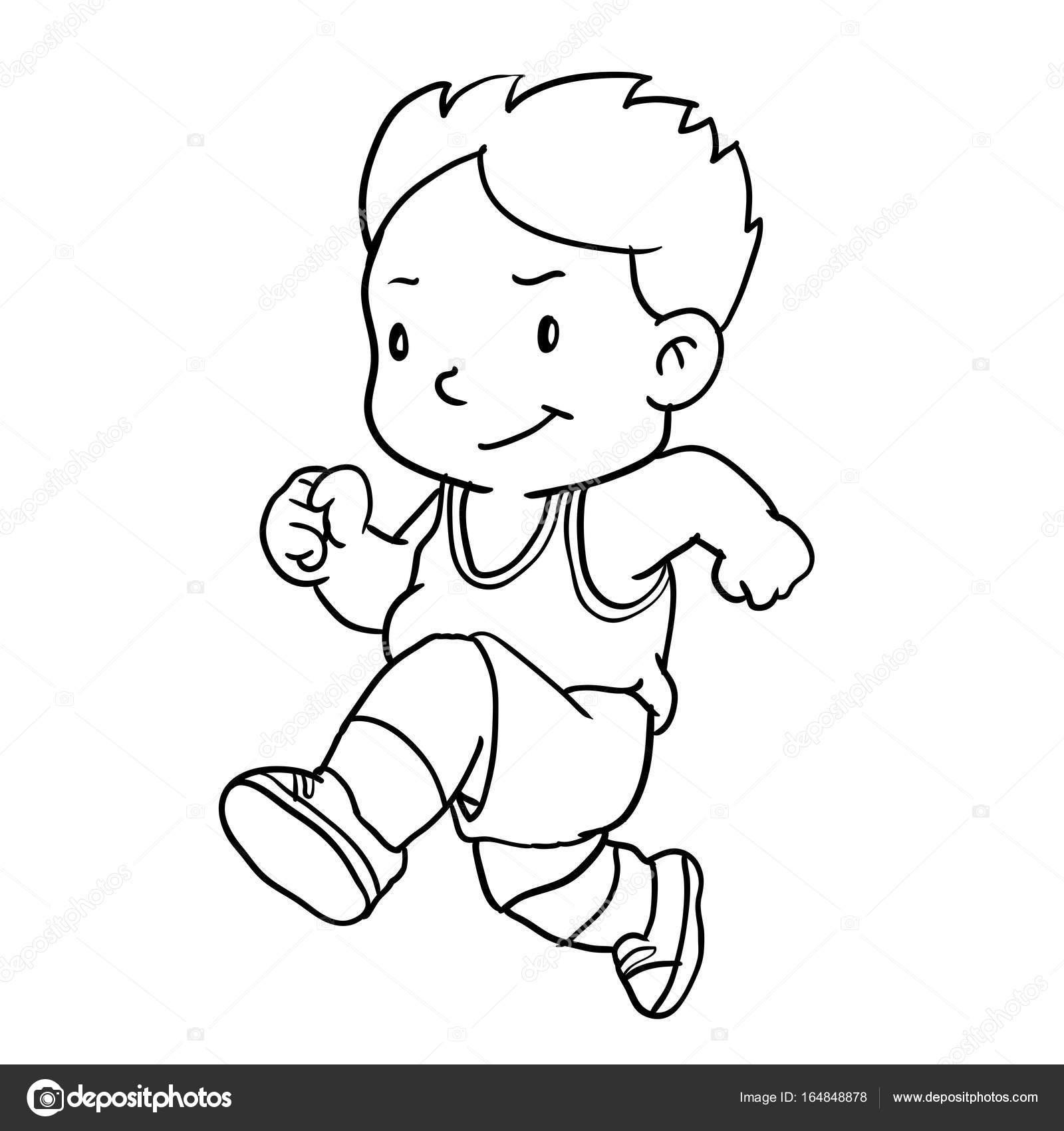 Imágenes Niño Corriendo Dibujo Dibujo De Niño De La Mano