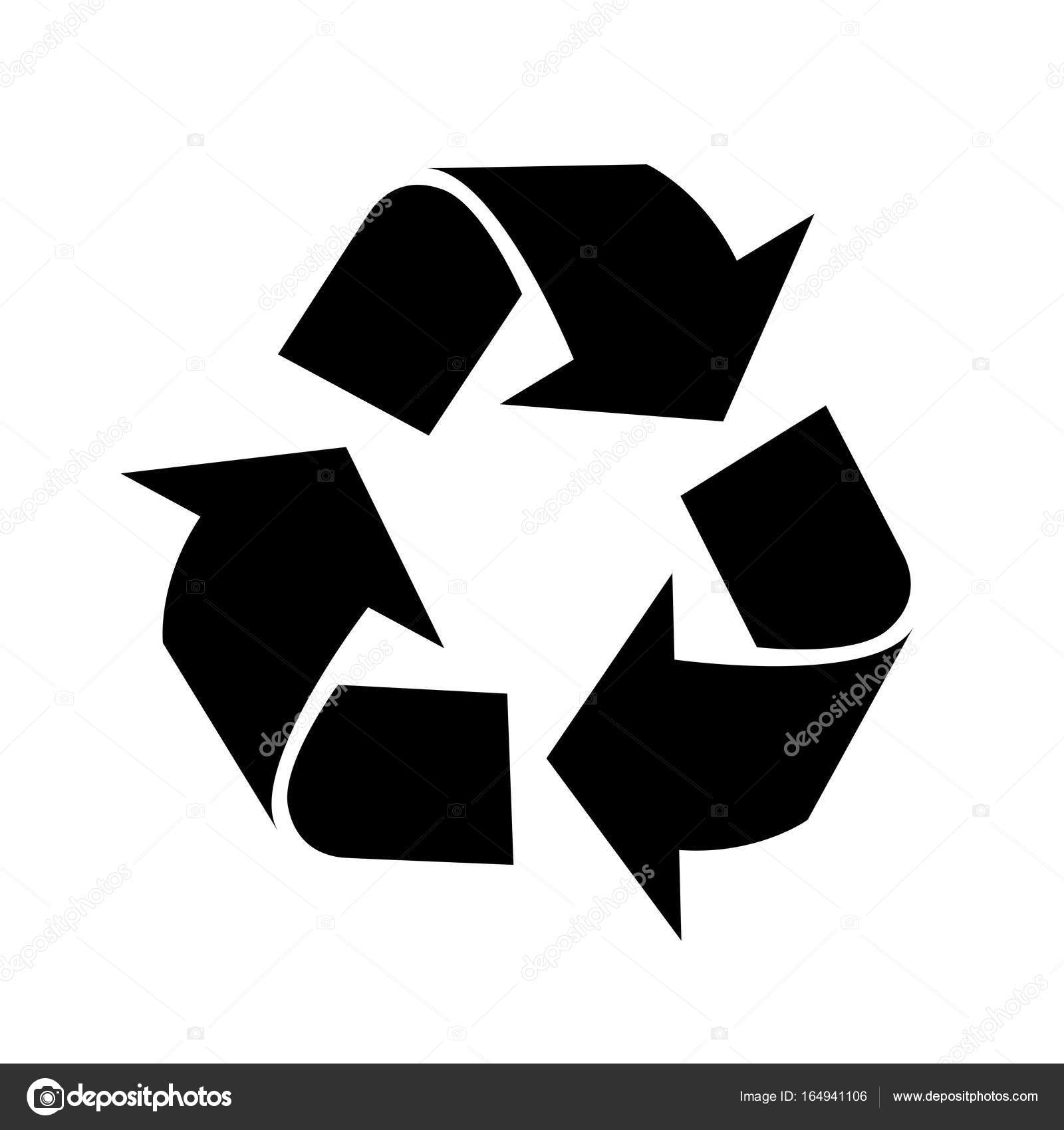 recycle icon vector iconic design stock vector dcliner07 gmail rh depositphotos com recycling icon vector free recycling icon vector free