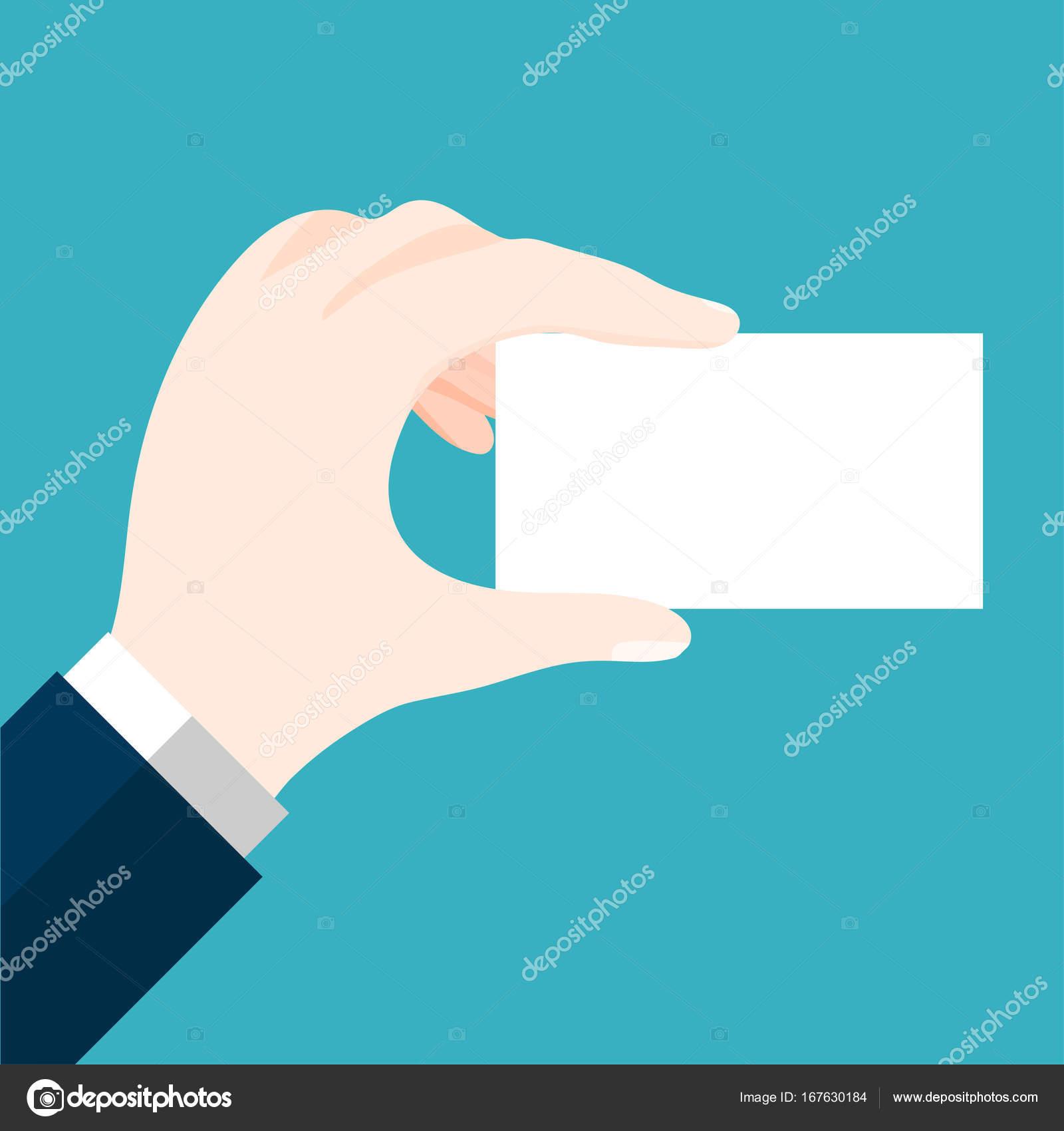 Empresarios con Vector de tarjeta en blanco de diseño plano ...
