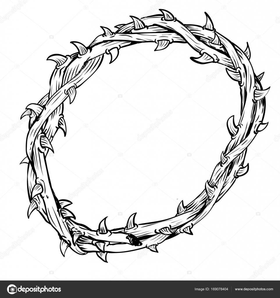 Black Jesus Thorn Coloring Pages