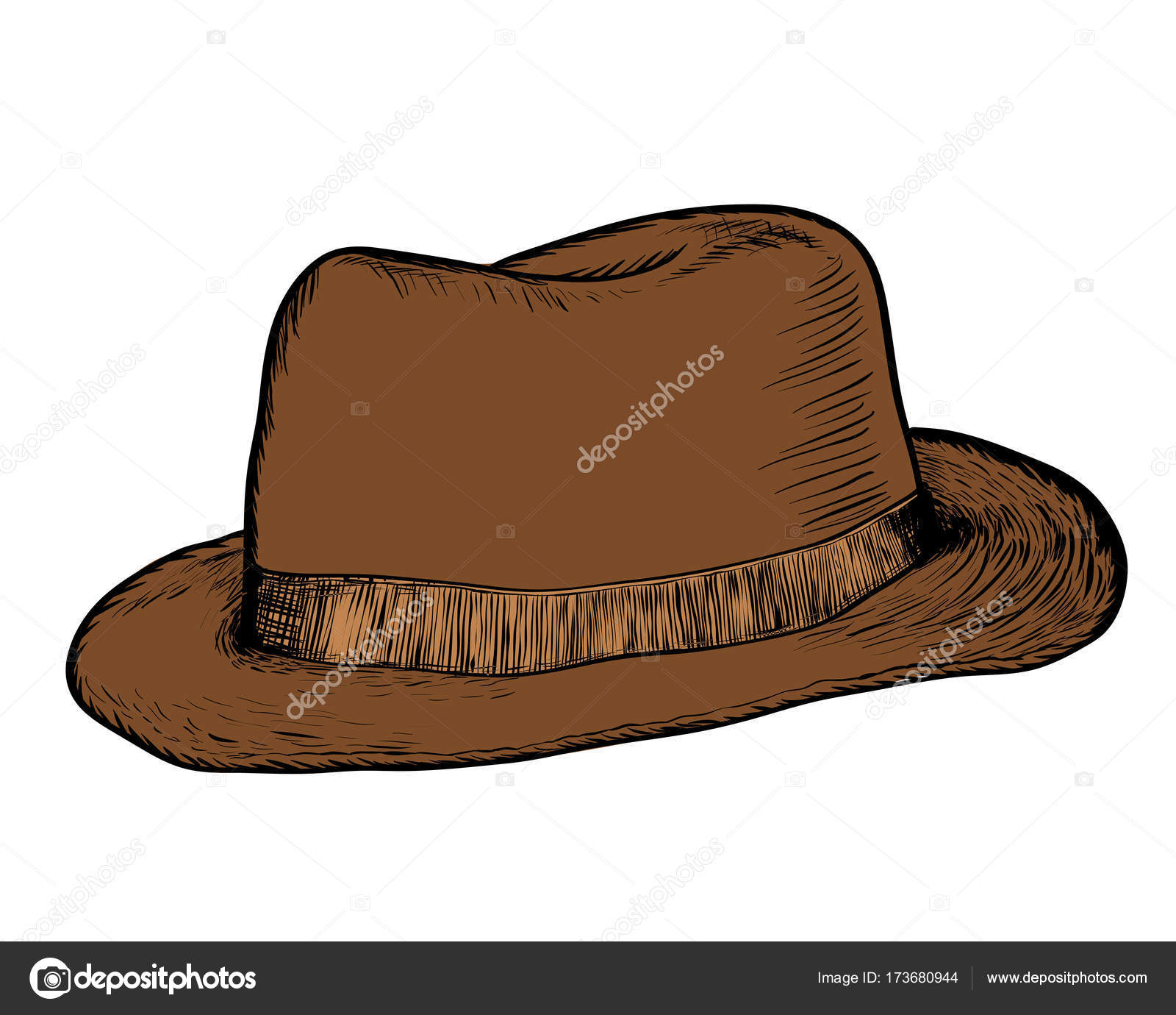 357912a617e Hand drawing of Cowboy Hat -Vector Hand Drawn Illustration — Stock Vector
