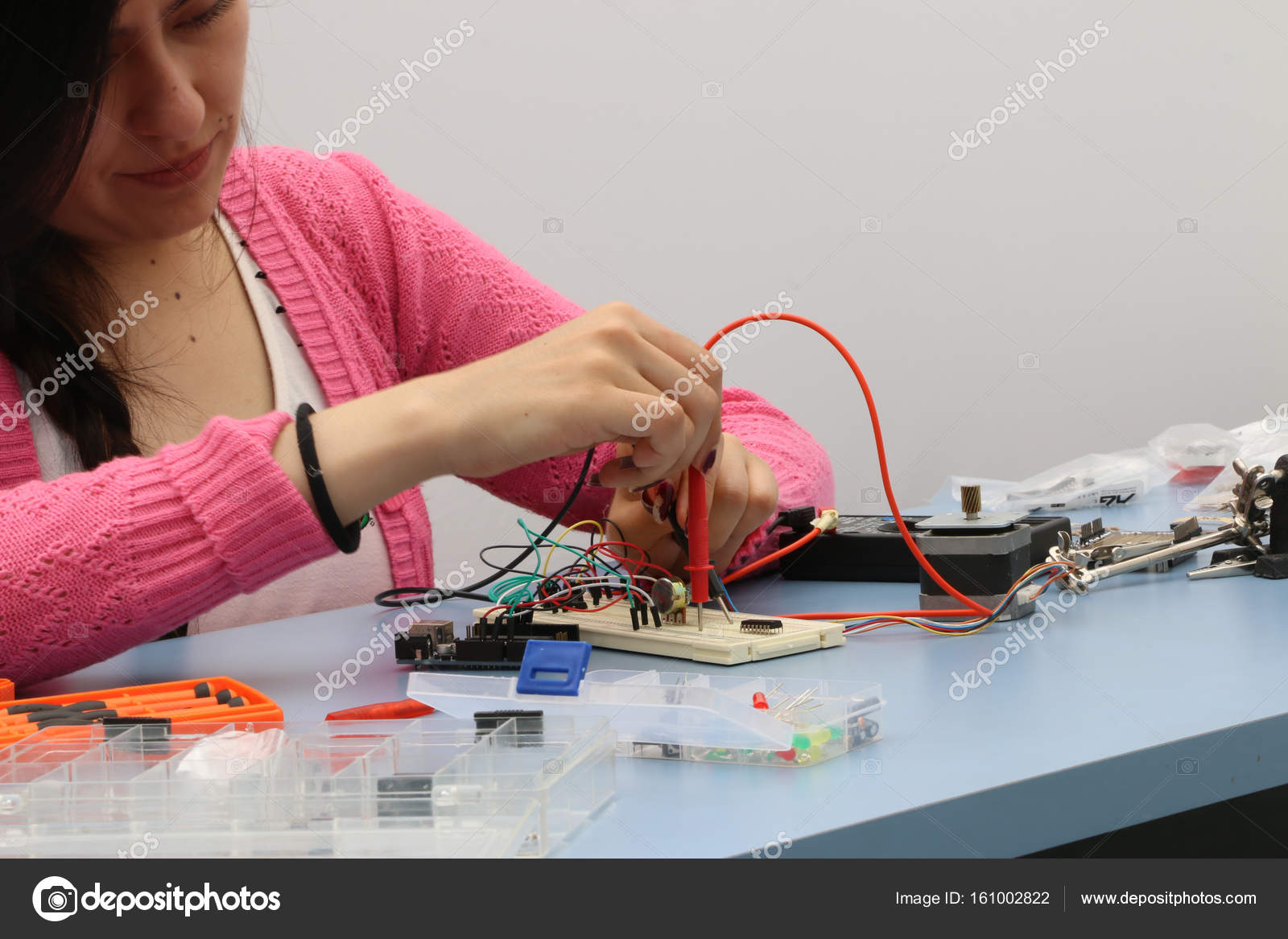 Tech Student Learning Wire Prototype Printed Circuit Board Stock How To Without Using Boards Photo