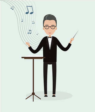 Young male conductor