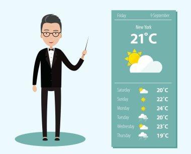 Man Leading Weather Forecast