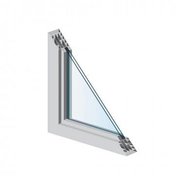 A set of illustrations for website - vector icons windows. Element 1 double glazing window light casement construction interior glass of Webit.Top