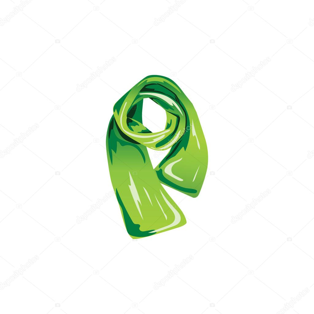 A Set Of Illustrations For Website Children S Wear Vector Icon Element 6 Green Scarf Accessory Cloth Clothes Clothing Muffler Season Warm Winter Of Webit Top Premium Vector In Adobe Illustrator Ai