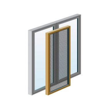 A set of illustrations for website - raster image windows. Element 3 mosquito nets for windows net glass casement light construction window grid of Webit.Top