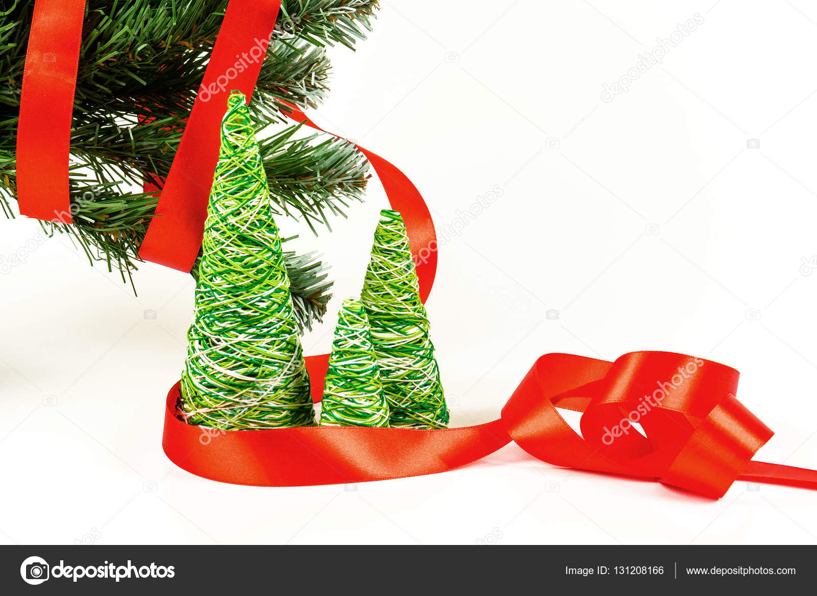 Creative decorative New Year and Christmas tree of handwork from ...
