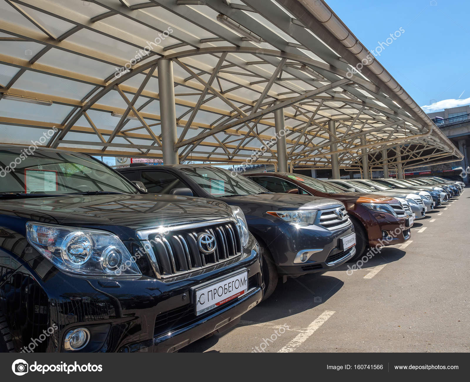 Used car parking for sale. Trade-in cars. – Stock Editorial Photo ...