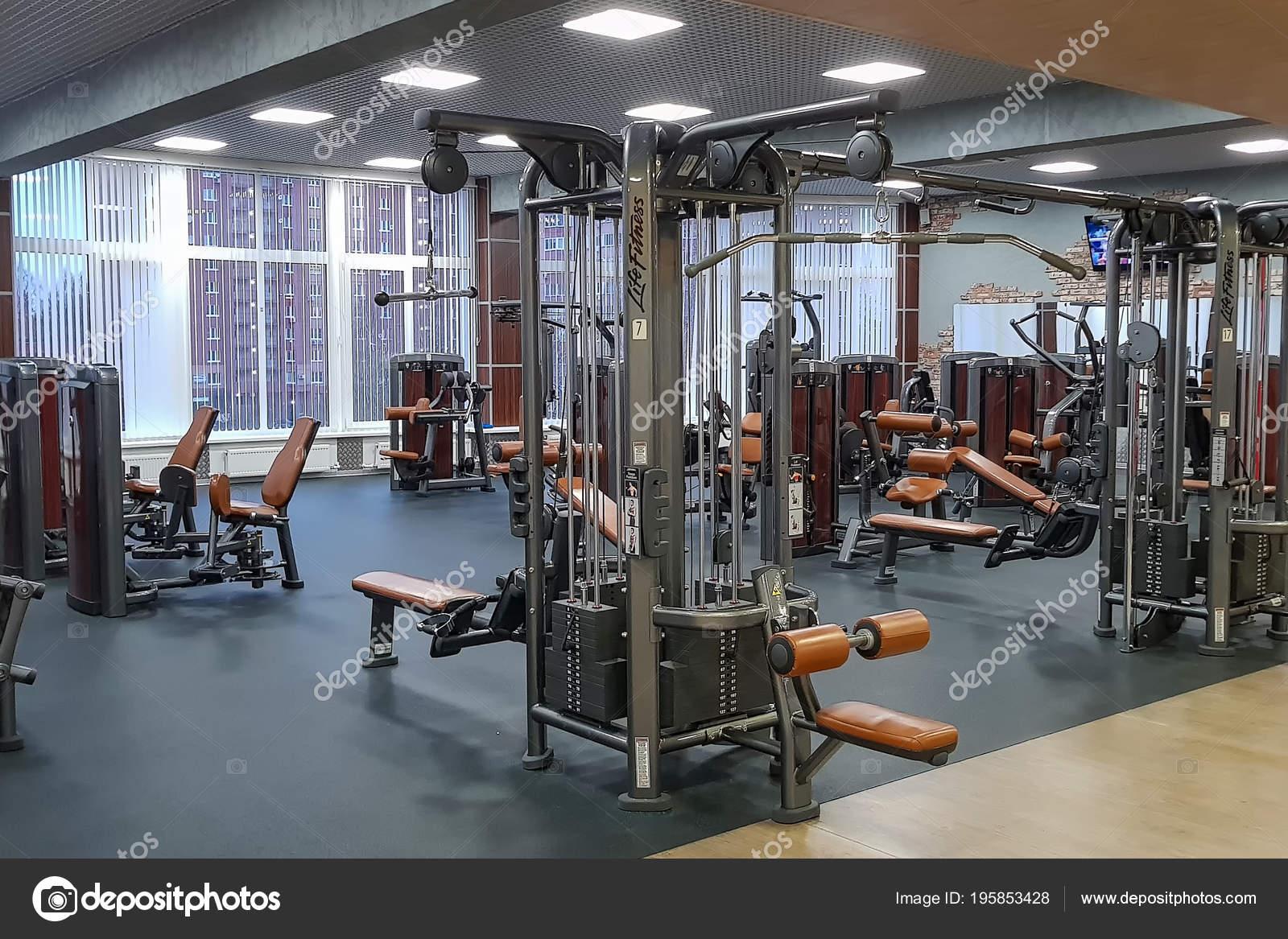 Equipements Appareils Fitness Dans Salle Sport Moderne Vide Dans