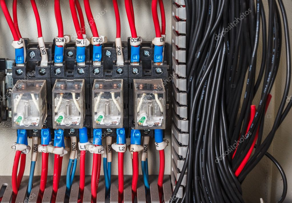 Wiring PLC Control panel — Stock Photo © wirapong6995@gmail ... on