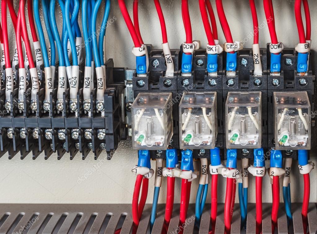Wiring Plc Control Panel Stock Photo C Wirapong6995 Gmail Com 126696516