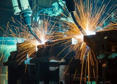 welding robot in Industrial automotive