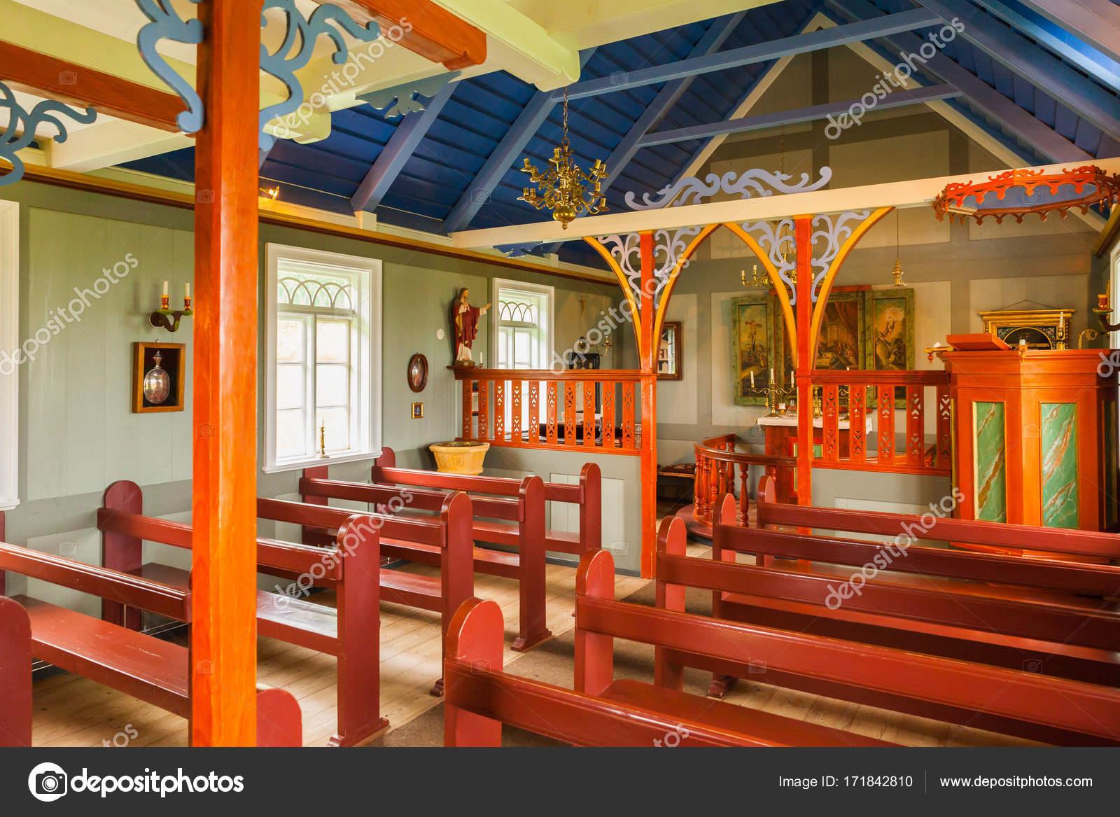 Iceland skogar museum church interiors — Stock Photo