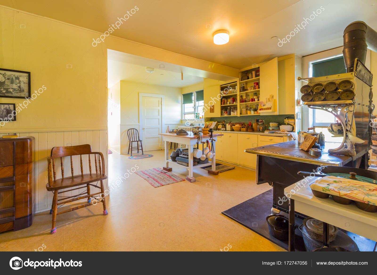 Bar u Ranch national Historic Site Interieur mit alten Küche ...