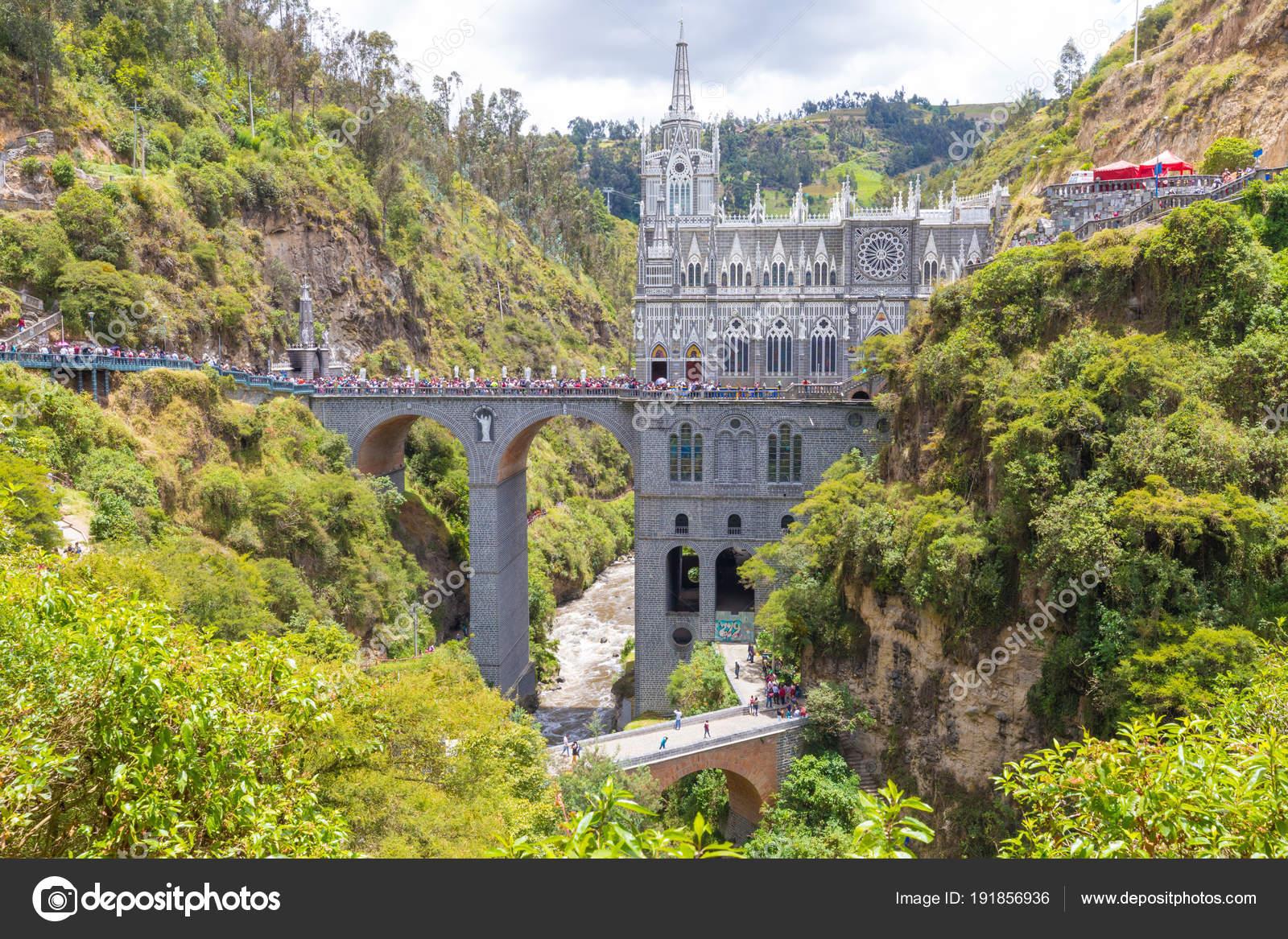 Hermosa Iglesia De Ipiales Santuario De La Vista Panoramica De Las