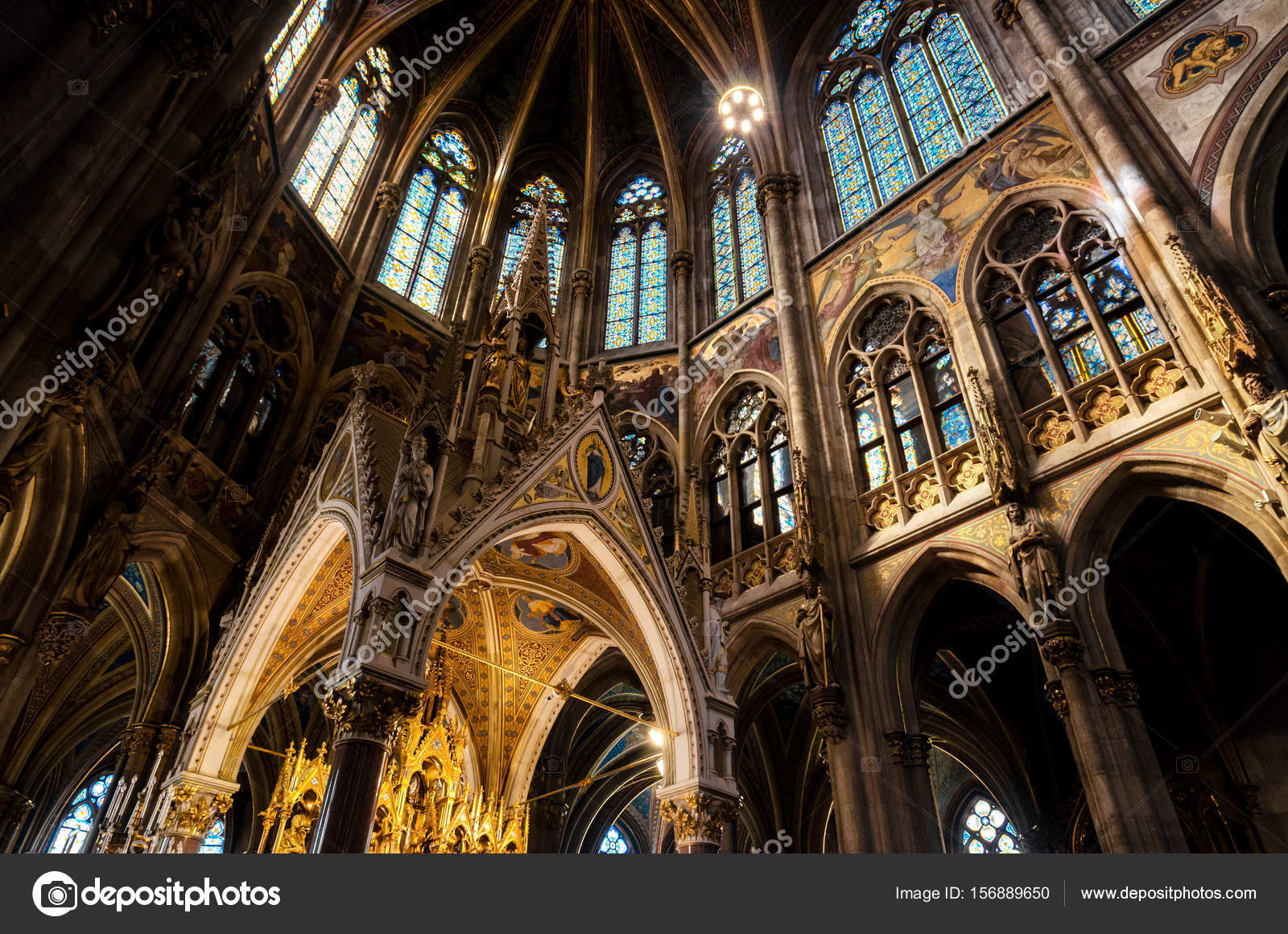 Interior Of The Famous Neo Gothic Votivkirche Votive Church In Vienna Build By Archduke Ferdinand Maximilian After Failed Assassination Attempt
