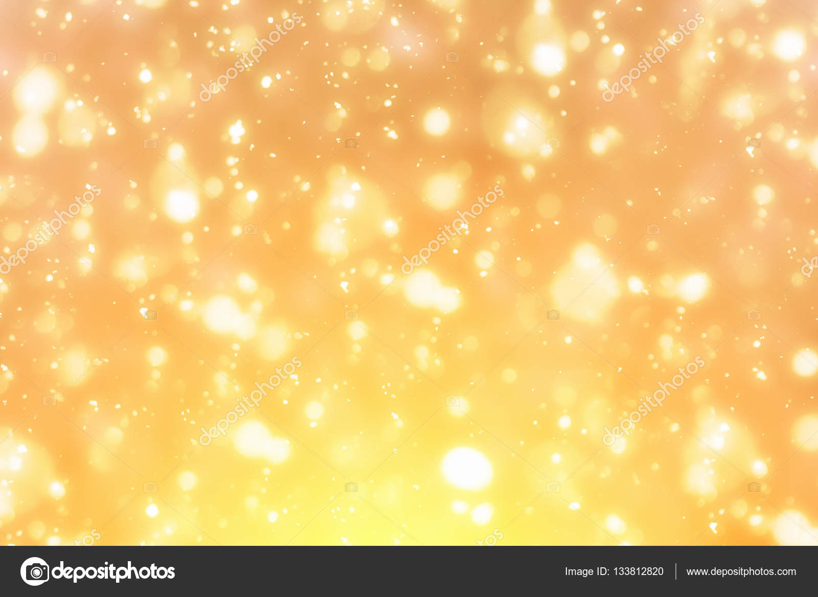 Golden bokeh or glitter lights festive background  Christmas