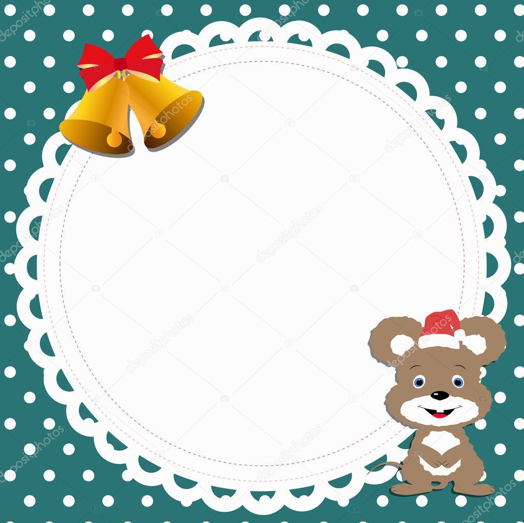Blank Template For Babys Greetings Card Or Photo Frame Mouse