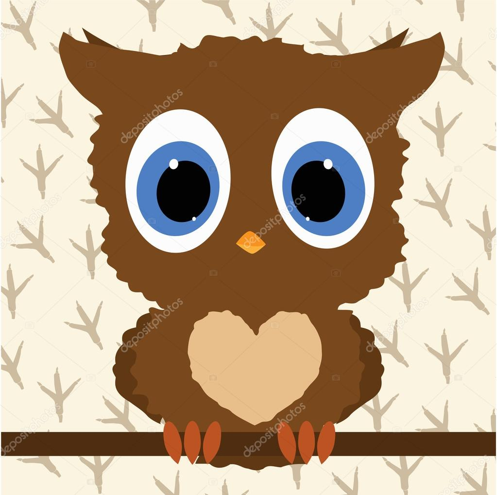 cute owl baby template for design and decoration Векторное