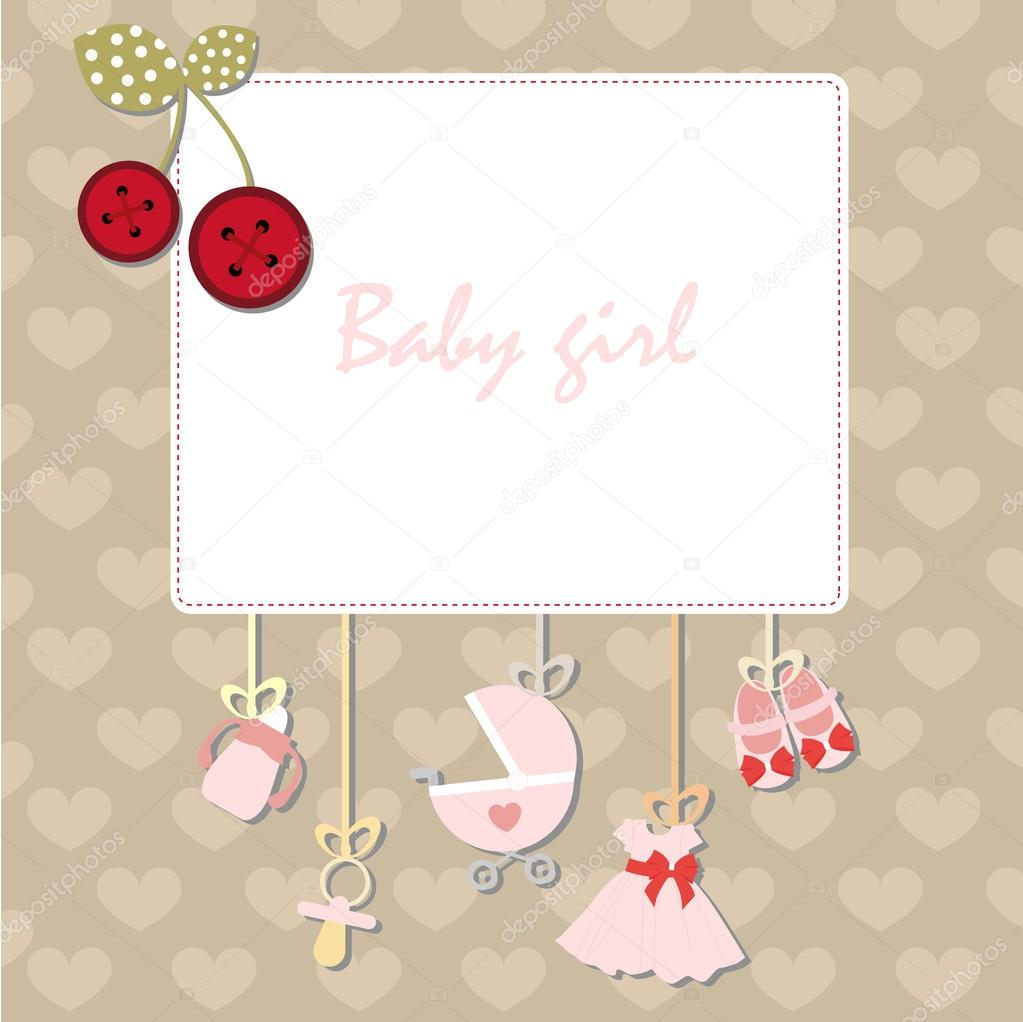 decorative baby frame design template for invitation greeting