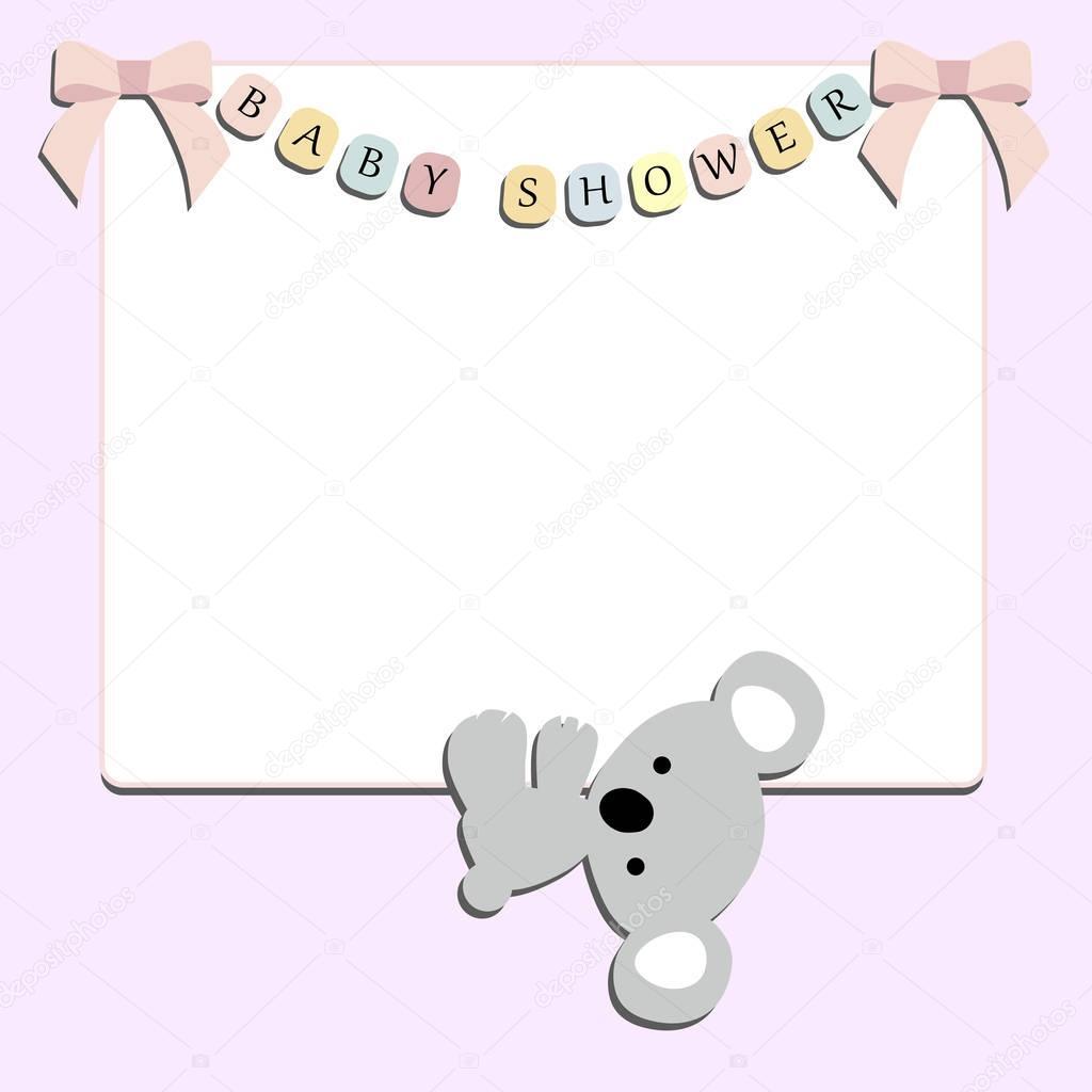 marco festivo lindo bebé con pequeños colgantes de Koala — Vector de ...