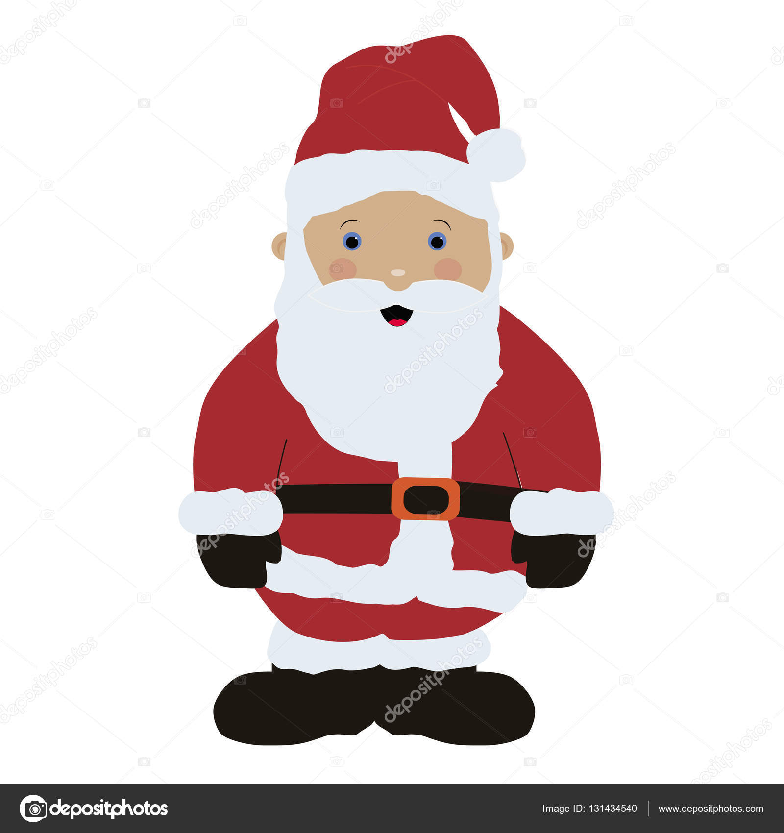 colored icon baby santa claus in red clothes on white background stock vector