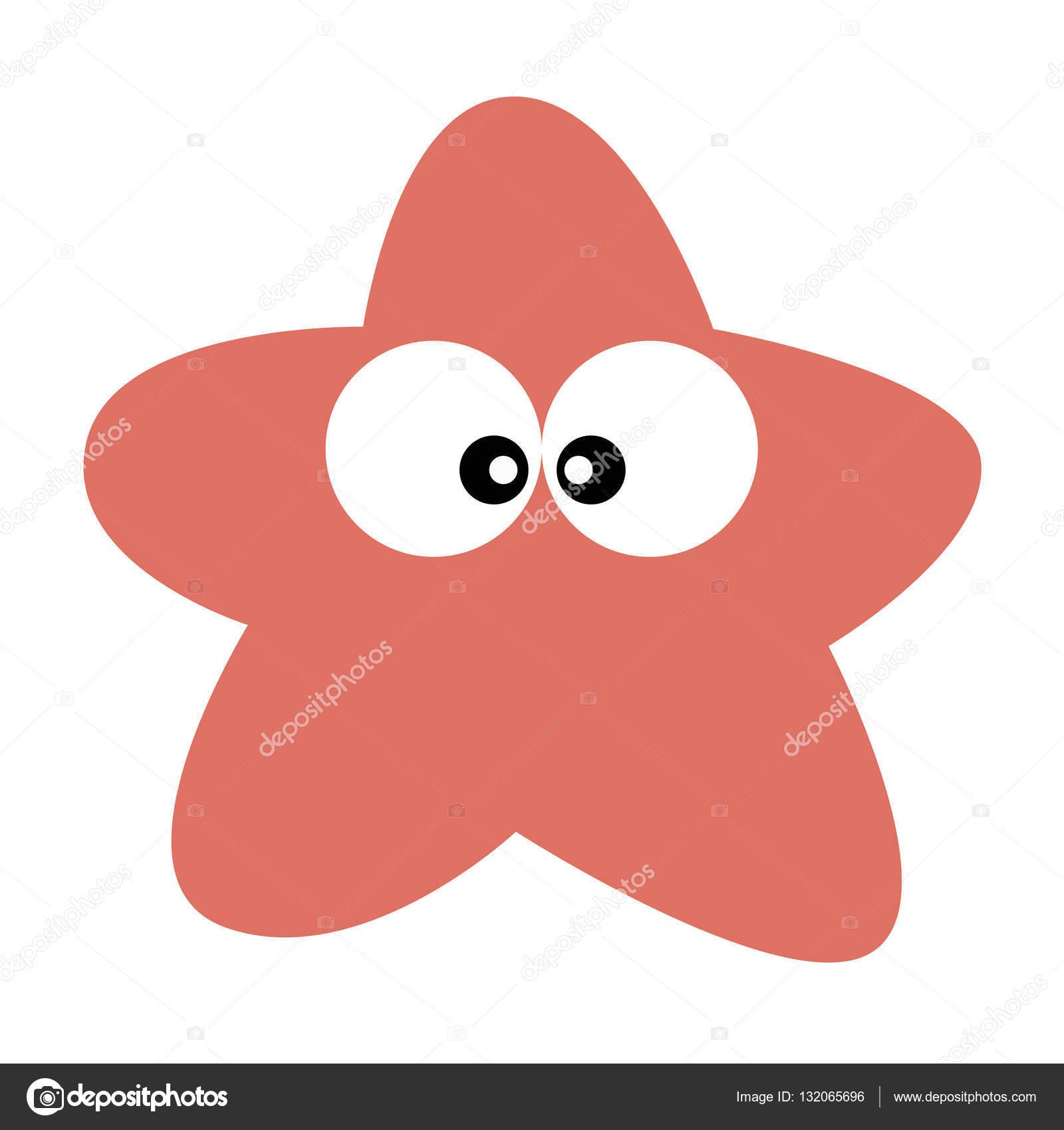 estilo de dibujos animados de estrellas de mar de lindo bebé icono ...
