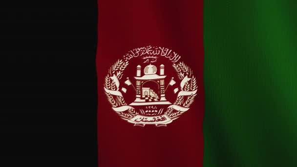 Afghanistan flag waving animation. Full Screen. Symbol of the country.
