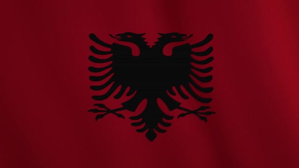 Albania flag waving animation. Full Screen. Symbol of the country.