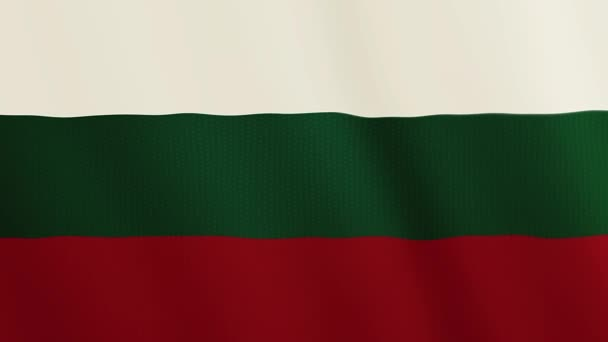 Bulgaria flag waving animation. Full Screen. Symbol of the country.