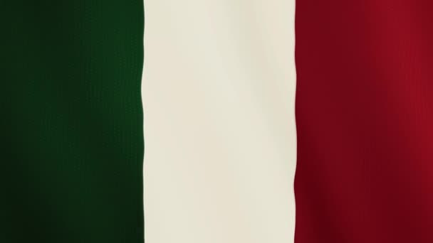 Italy flag waving animation. Full Screen. Symbol of the country.