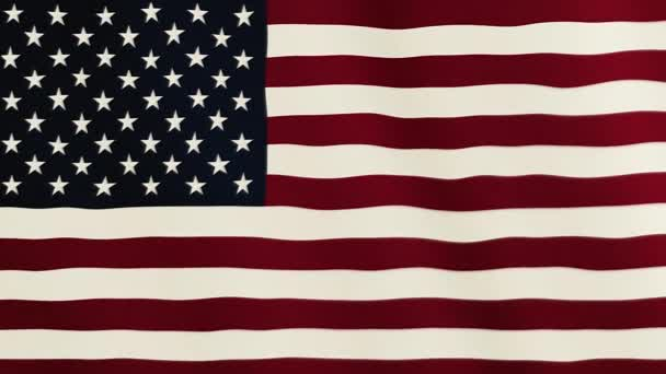 United States of America flag waving animation. Full Screen. Symbol of the country.
