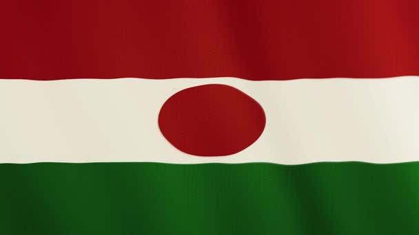 Niger vlajky vlající animace. Celá obrazovka. Symbol státu