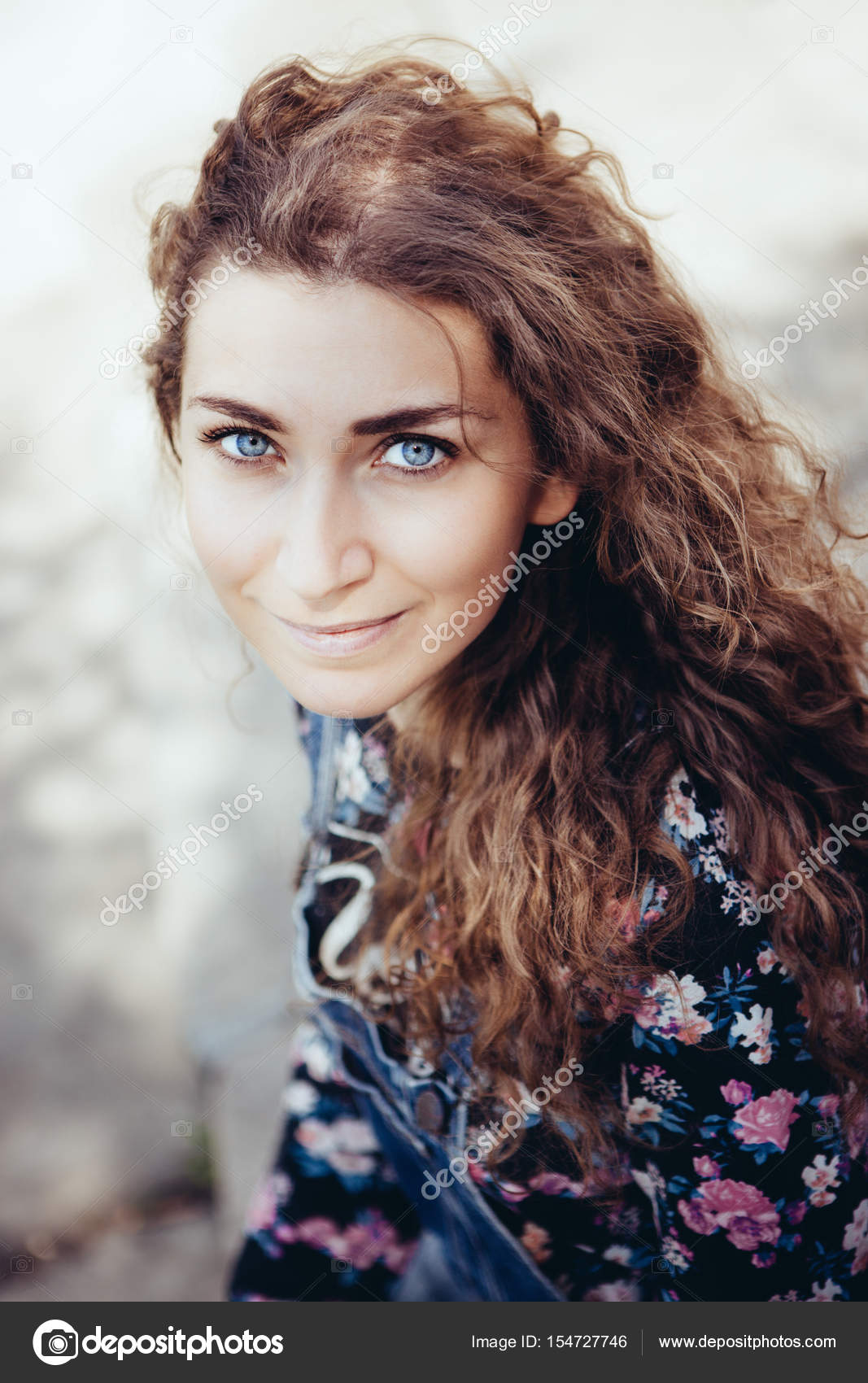 Beautiful Woman With Blue Eyes Looking Into The Camera Stock Photo C Justesfir 154727746