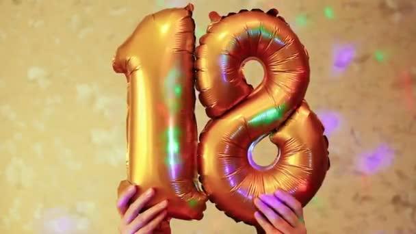 Happy 18 narozeniny, krásné číslo pozice