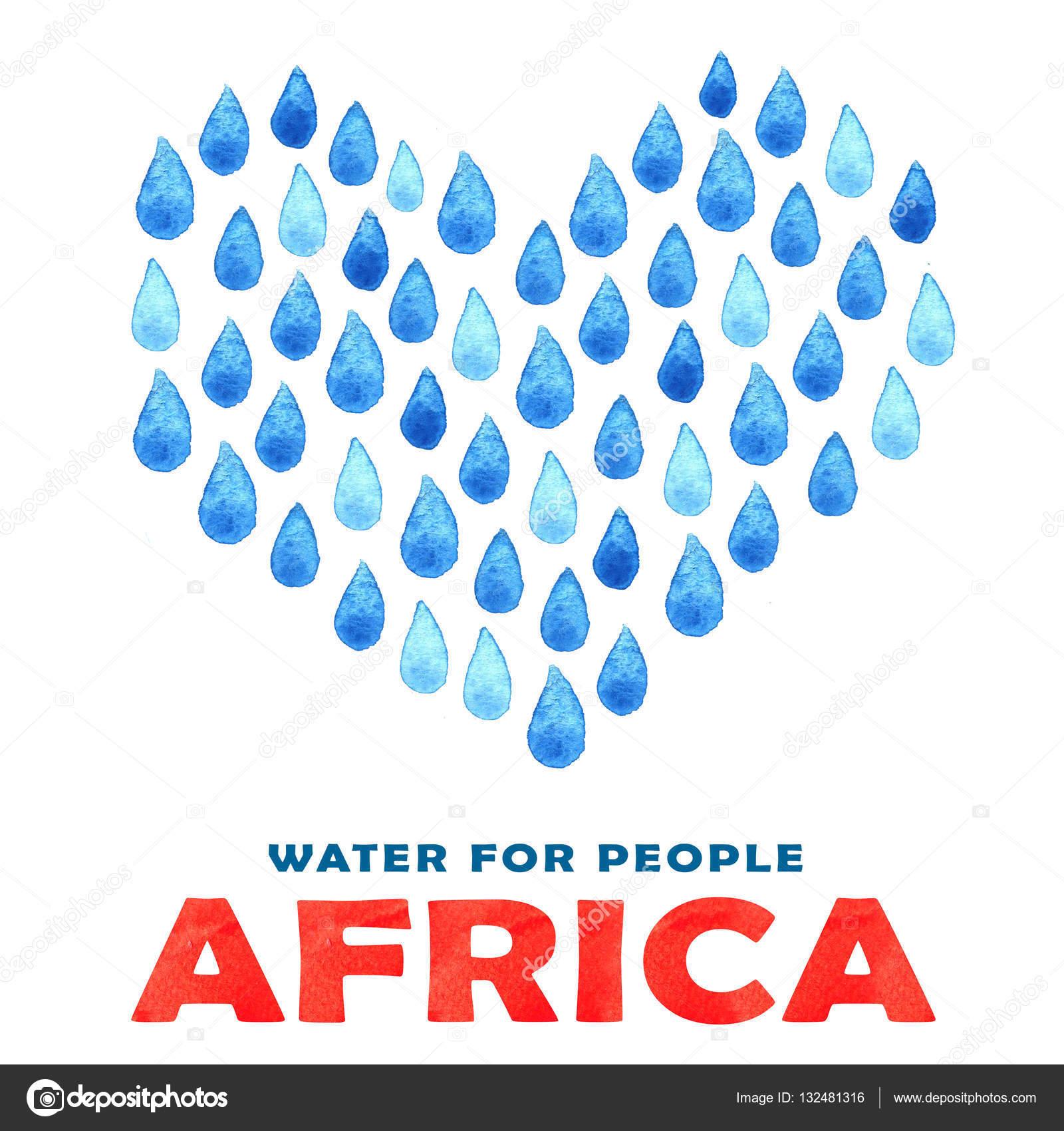 Miłości Czystej Wodzie Plakat Społecznego Ilustracja O