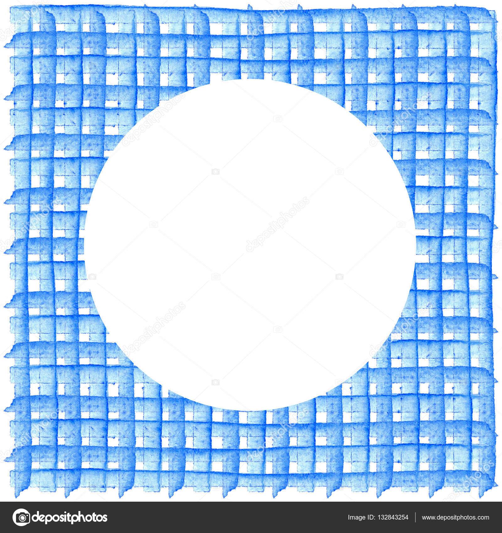 Weißer Kreis auf Muster mit karierten geometrische Struktur ...