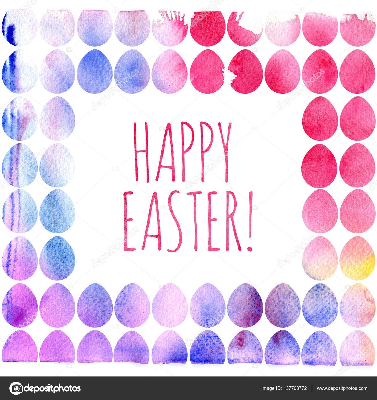 f2f73f3d9 Moderno modelo de feliz Páscoa para cartão ou convite design com ovo  brilhante e splash aquarela