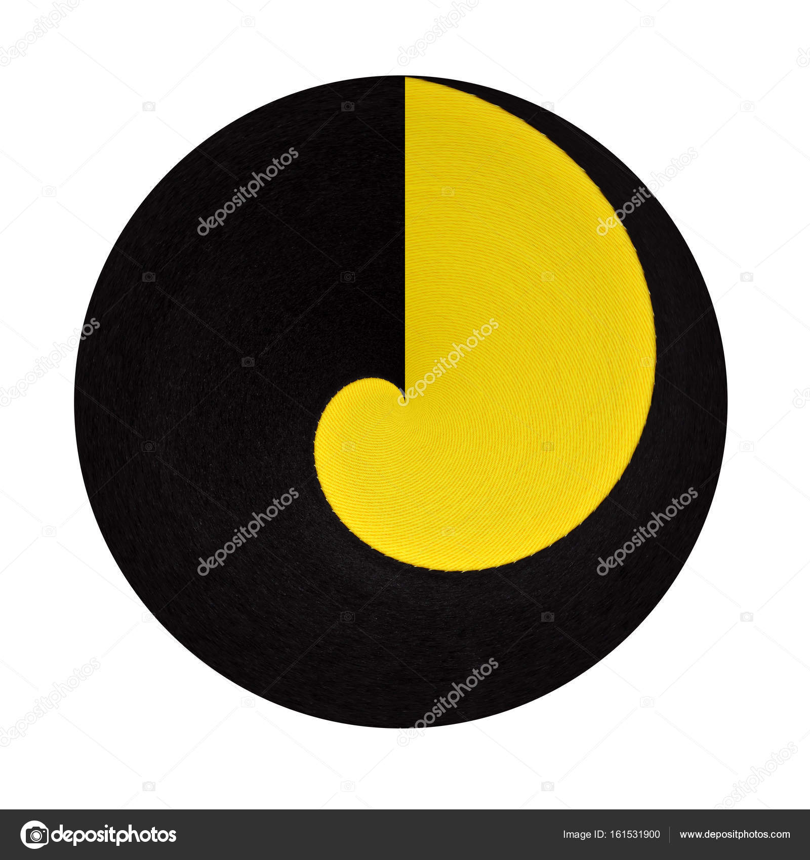 Abstract Geometrical Black And Yellow Background From Curve