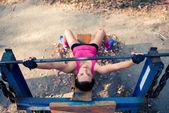 Fotografie Atletka, školení s váhami