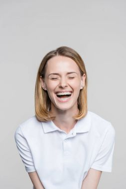 beautiful laughing woman