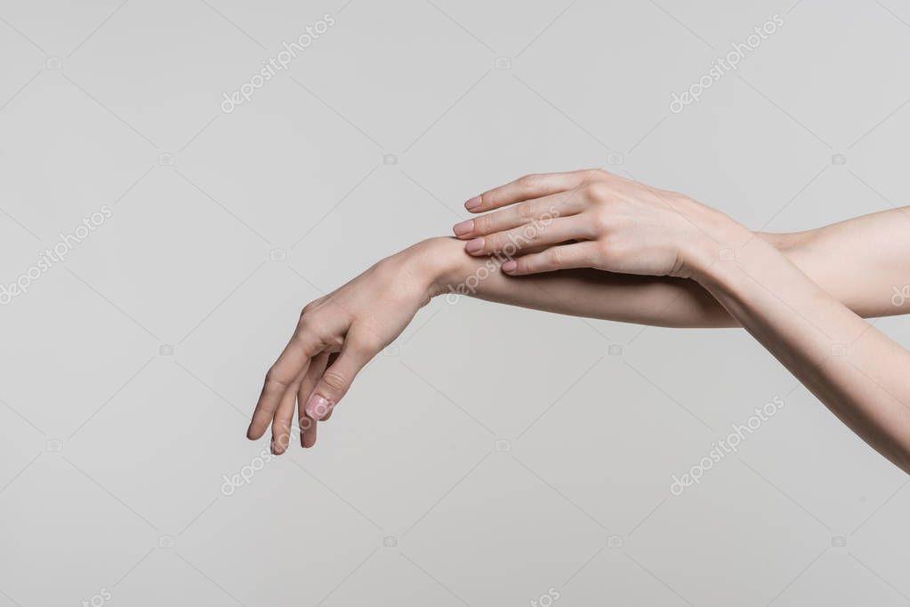 tender female hands