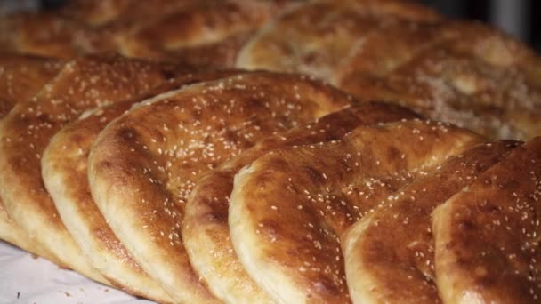 Close up of khachapuri on the table