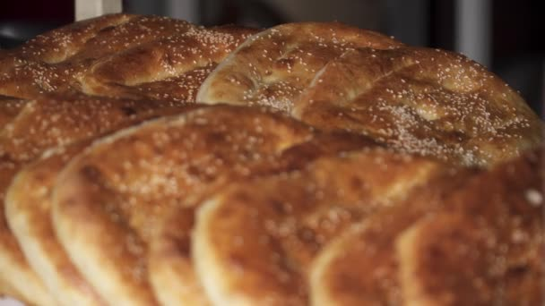 Close up of tasty khachapuri on the table
