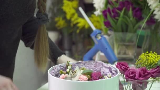 Květinářství je vyplnění pole s květinami v květina boutique