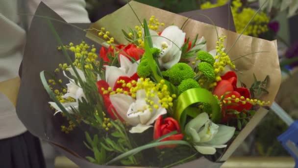 Krásná kytice je připraven k prodeji